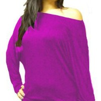 Fashion Victim, Ladies Long Sleeve Off Shoulder Batwing Top, Mini Dress