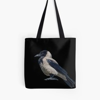 'Hooded Crow' Tote Bag by taiche