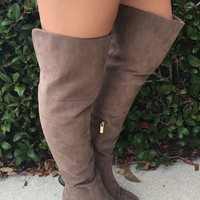 OTK Boots- Light Brown