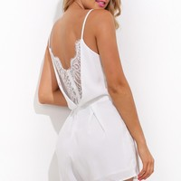 Girly Girl Playsuit White