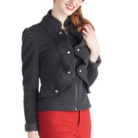 Forward March Jacket in Grey | Mod Retro Vintage Jackets | ModCloth.com