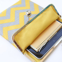 Chevron iPad Case or Sleeve with Kisslock Frame iPad by kailochic
