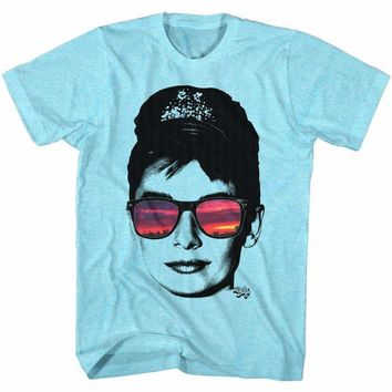 Audrey Hepburn Reflection Adult T-Shirt