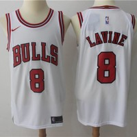 Best Deal Online NBA Authentic Basketball Player Jerseys Chicago Bulls  # 8 Zach LaVine White