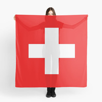 'Flag of Switzerland - Authentic 2:3 scale version' Scarf by Bruce Stanfield