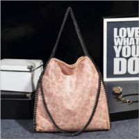 Folding women's shoulder bag Pink