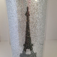 Sparkly Travel Mug  Eiffel Tower by Set2Sparkle on Etsy