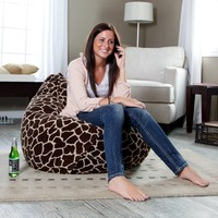 Large Animal Print Micro Suede Bean Bag | www.hayneedle.com
