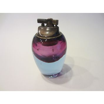 Alfredo Barbini Murano Glass Italy Table Lighter