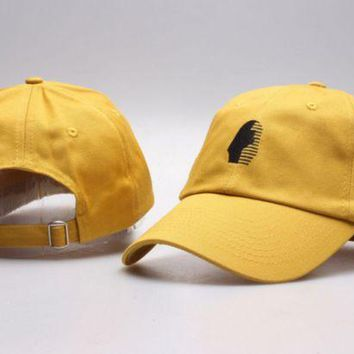 PEAPDQ7 The New Last Kings Visor Unisex Outdoor Couple's Cotton Baseball Cap - Yellow