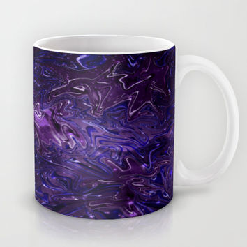 The Wolves Hidden in the Royal Purple Galaxy Mug by Distortion Art