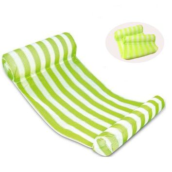 Swimming Pool beach  Floats Air Mattress Inflatable Stripe Sleeping Bed Water Hammock Lounger Chair Float  AccessoriesSwimming Pool beach KO_14_1
