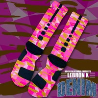Reverse Lebronald Palmer Custom Nike Elite Socks | Rock 'Em Apparel