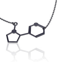 Molecule necklace | chemistry jewelry | chemistry necklace | nicotine necklace | silver molecule necklace