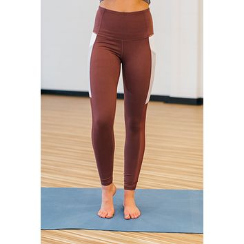 DEAL OF THE DAY Orchid Color Block Leggings