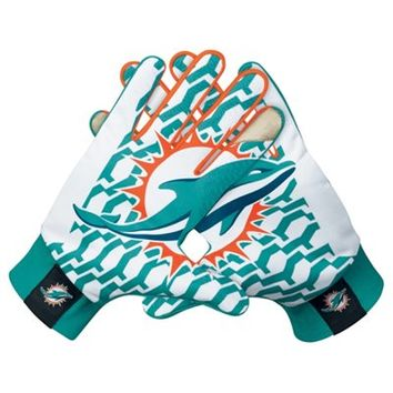 Nike Miami Dolphins Stadium Gloves - Aqua