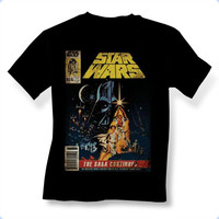 Star Wars The Saga Continues Mens T-Shirt