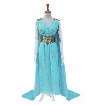 Game Of Thrones Daenerys Targaryen Cosplay costume Stormborn Targaryen The Unburnt Mother of Dragon