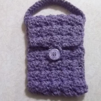 iPhone Cozy, Phone holder, phone protector, smart phone holder, smart phone cozy, cell phone holder, purple phone cozy