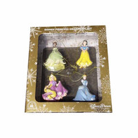 disney christmas ornament set rapunzel tiana snow white cinderella new with box