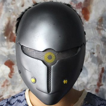 Game Metal Gear Solid Full Face Wire Mesh Gray Fox Airsoft Cosplay Mask Masquerade Party Halloween