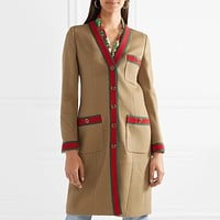 GUCCI Women Fashion V-Neck Knit Cardigan Jacket Coat