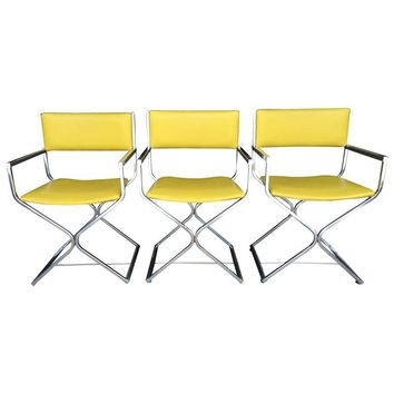 Pre-owned Vintage Chrome Directors Chairs-Set of 3  sc 1 st  wanelo.co & Shop Vintage Chrome Chairs on Wanelo