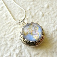 Map Locket Small  Pick Your City The ORIGINAL by TheGreenDaisyShop