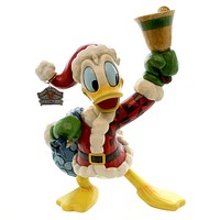 Jim Shore RING IN THE HOLIDAYS Polyresin Disney Donald Duck Christmas 4046024