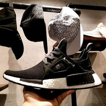 adidas the mastermind x nmd xr1 japan ba9726 black with skull running shoes men women nmd runner ture boost ship with double box