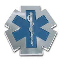 Emergency Medical Services Star of Life Chrome Plated EMS EMT Paramedic Emblem Car Truck Motorcycle Logo