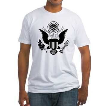 US Seal Black Fitted T-Shirt