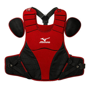 "Mizuno Samurai 15"" Chest Protector Intermediate - Red Black"
