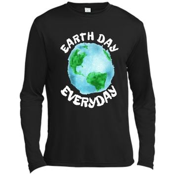 Earth Day Shirt Everyday Conservation Plant Nature Lover Tee Long Sleeve Moisture Absorbing Shirt