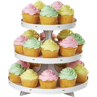 White Cupcake Stand Holds 24