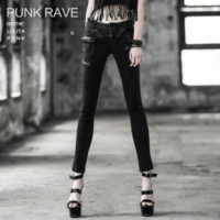 Goth denim skinny jeans - Punk Rave