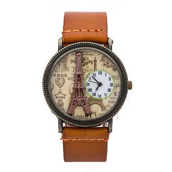 Good Price Awesome New Arrival Gift Stylish Designer's Trendy Great Deal Leather Fashion Strong Character Watch [4933059396]