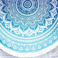 Printed Tassel Beach Blanket