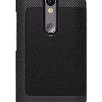 Tumi Leather Folio Case Cover for Motorola Moto Droid Turbo 2 - Black