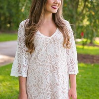 Antique Appeal Dress-Ivory