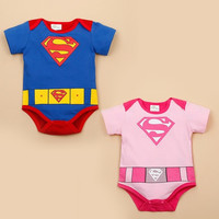 Fashion New Baby Girl And Boy Superman Rompers Infant Bodysuit Bebe Jumpsuit Clothing = 1946171844