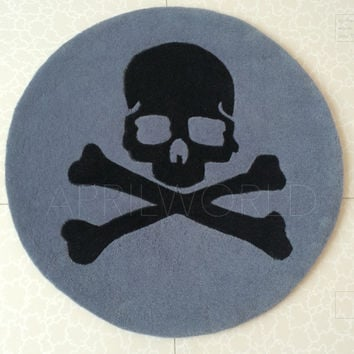 Personalized skull mmj computer chair carpet round blanket living room coffee mat rug table entranceway doormat thick