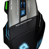 Dragonwar G9 USB Wired Gaming Mouse with 3200 DPI (7 buttons and 8 programmable functions) , Mouse Pad Included