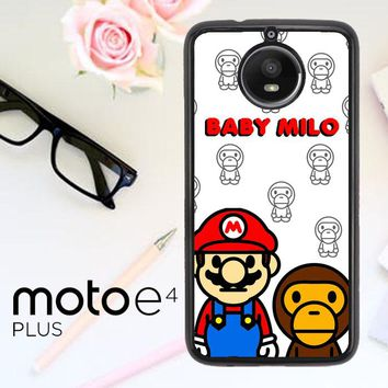 Baby Milo And Mario W4812 Motorola Moto E4 Plus Case