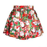 Red Santa Claus Bubble Skirt