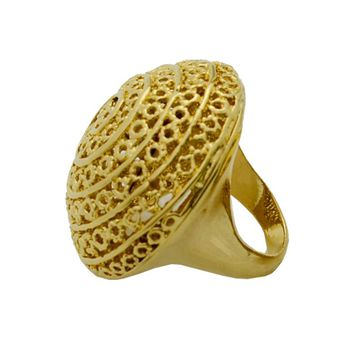 Anniyo Big Ethiopian Ring Women Gold Color Eretrian Rings Girl Jewelry African Gift,Nigeria Style Jewellry Arab Items #046906