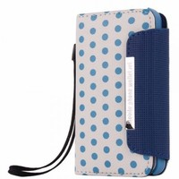 Colorful Polka Dot Wallet Flip Case for iPhone 4/4S
