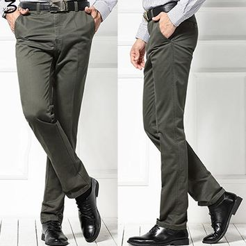 XMY3DWX Man khaki pants in the spring autumn high-end business man gentleman loose style slimming overalls slacks/ 29-40
