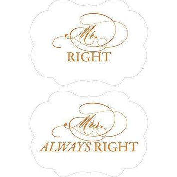 Cheeky Mr. Right & Mrs. Always Right Paper Chair Markers Berry (Pack of 1)