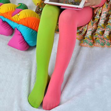 1 Pair Baby Kids Girl Stretch Trousers Pants  Velvet Dance Tights Pantyhose Underpants Stockings Age 2-9 Y